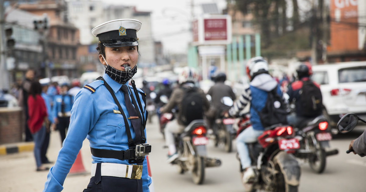 Body cameras improve road safety in Nepal | UNOPS